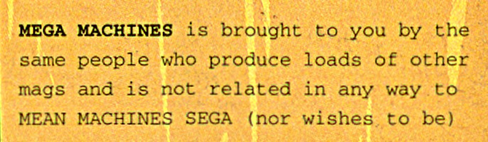 Mega Machines disclaimer